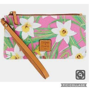Dooney & Bourke Pink Daffodil Wristlet Wallet